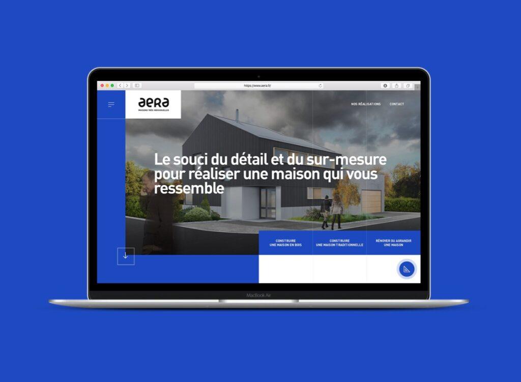 L'agence web Mars Rouge signe le site des maisons Aera