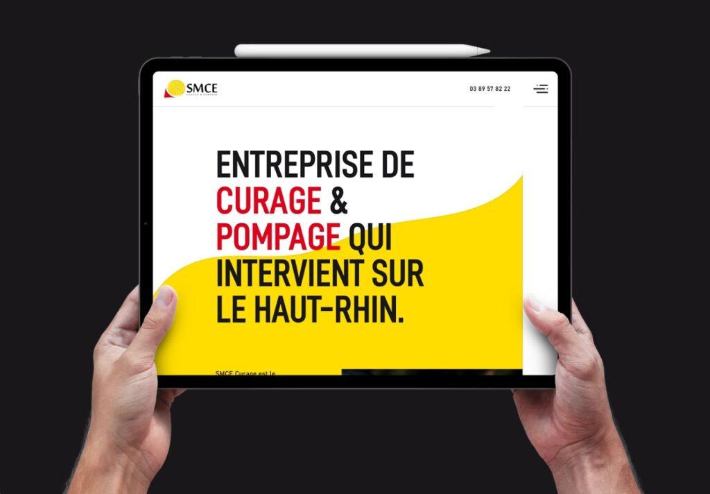 Un site internet adaptable pour SMCE Curage à Mulhouse en Alsace.